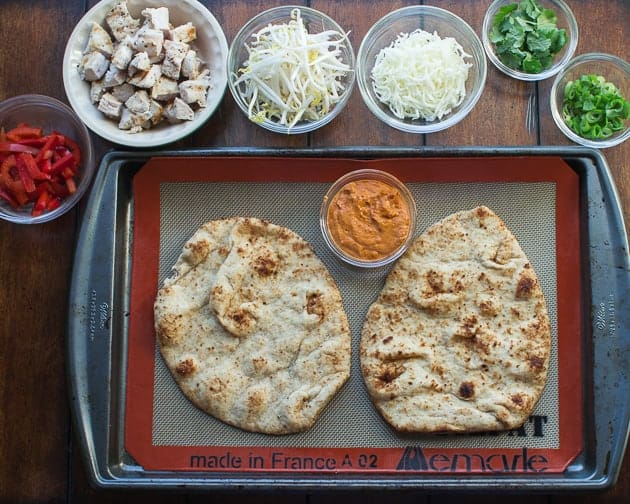 Quick & Easy Thai Curry Naan Pizza