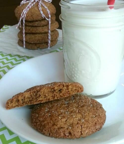 Soft-Ginger-Cookies-on-plate