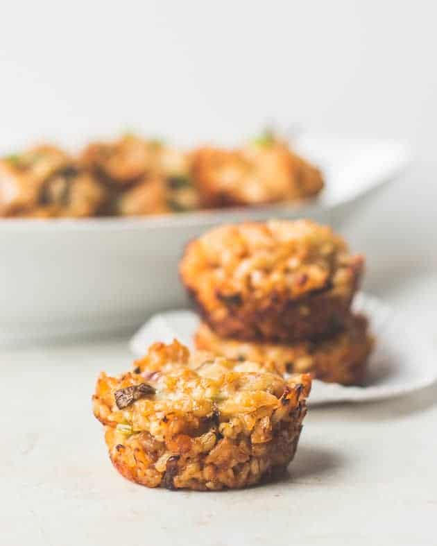 Baked Asian Chicken Rice Balls with Cheddar
