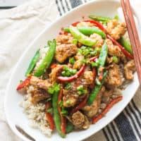 Lightened-Up Mongolian Chicken
