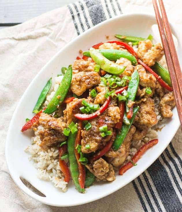 Lightened-Up Mongolian Chicken
