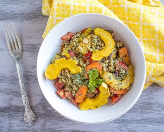 Farro-Roasted-Vegetabels-Carrot-Top-Pesto-1