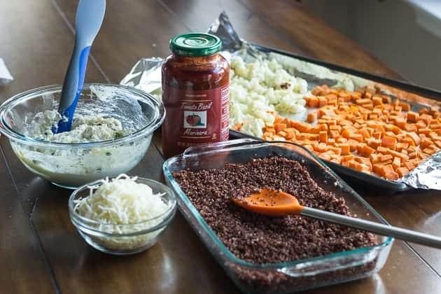 Vegetarian Sweet Potato Quinoa Lasagna