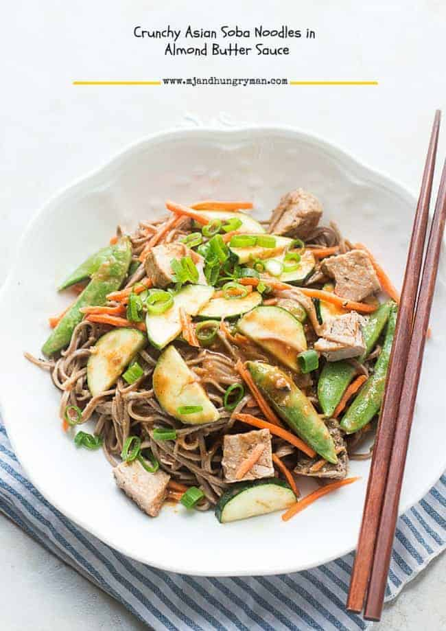 Crunchy Asian Soba Noodles In Almond Butter Sauce