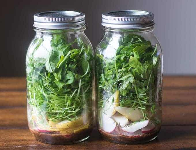 Meal Prep Friday- spring salad with fig balsamic vinaigrette