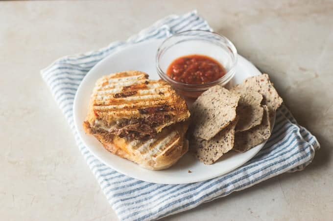 Meal Prep Friday - steak and cheddar panini