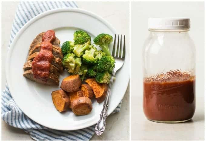 Roasted pork tenderloin w BBQ sauce