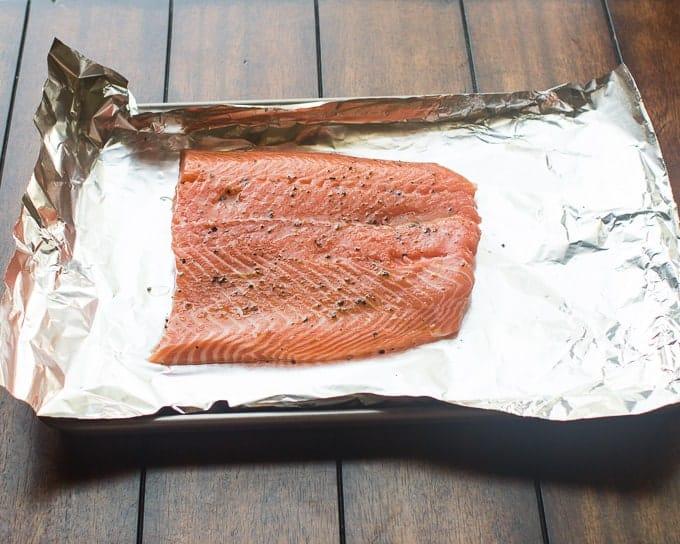Greek Salmon Salad with Tzatziki Sauce