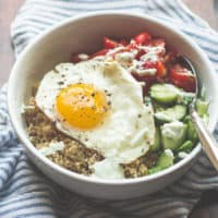 Sunny Greek Quinoa Breakfast Bowl