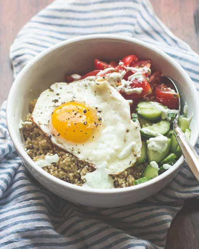 Sunny Greek Quinoa Breakfast Bowl Mj And Hungryman