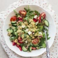 Vegetarian Arugula Chickpea Power Salad