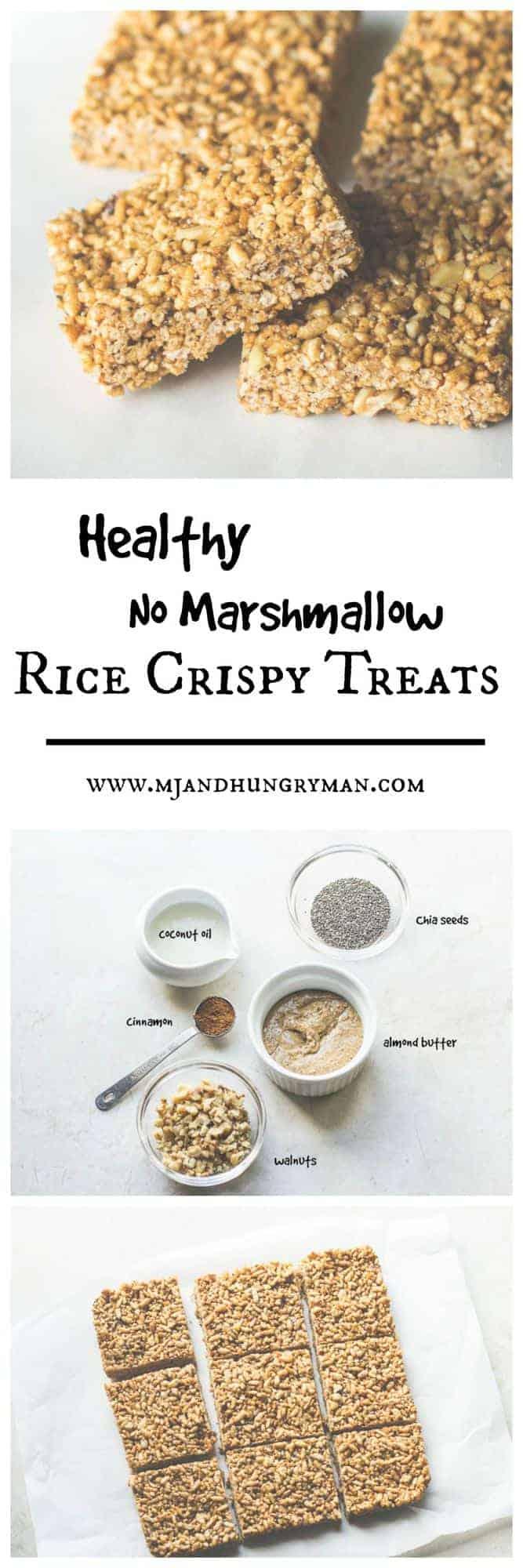 Healthy No Marshmallow Rice Crispy Treats