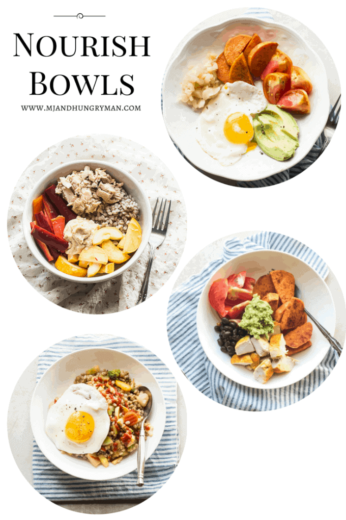 Quick and Easy Nourish Bowls from MJ and Hungryman [Recipe Round-Up at A Little Seed Grows - Blog]