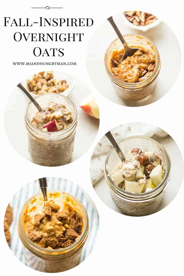 4 Fall Inspired Overnight Oats