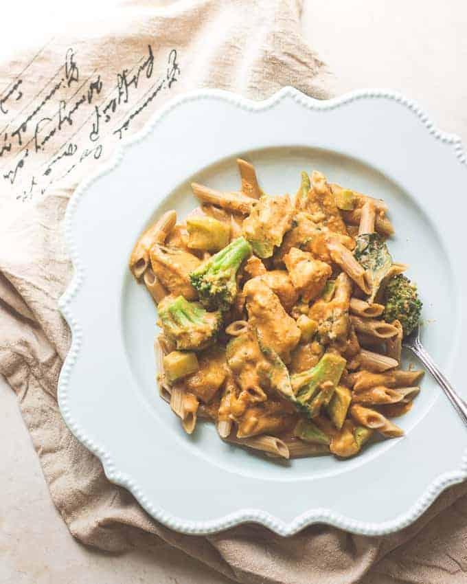 Thai Chicken and Pumpkin Curry Pasta