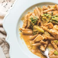 Thai Chicken and Pumpkin Curry Pasta