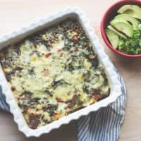 Mexican Lentil and chard breakfast casserole