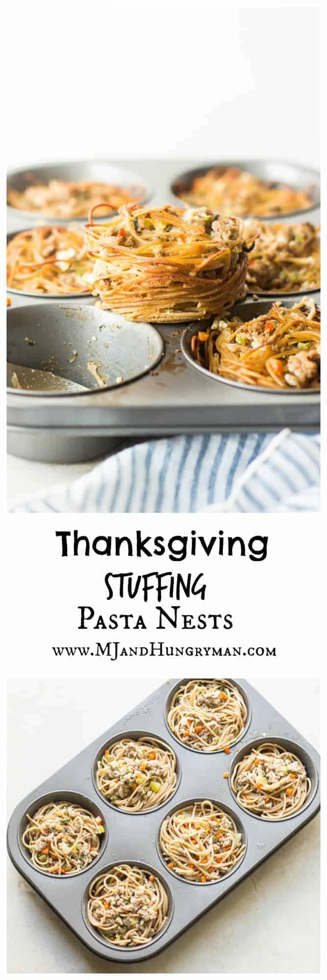 Thanksgiving Stuffing Pasta Nests