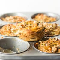 Thanksgiving Stuffing Pasta Nests