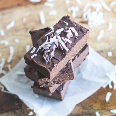 Healthy No Cook Mint Chocolate Fudge