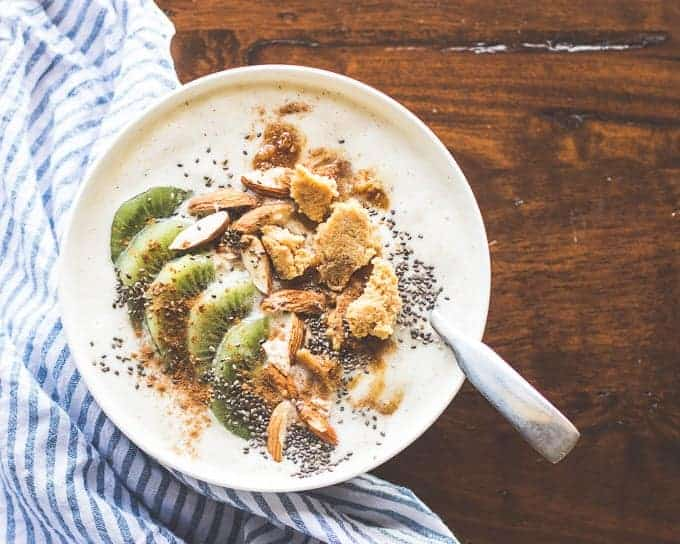 Kiwi Ginger Smoothie Bowl with Hokey Pokey