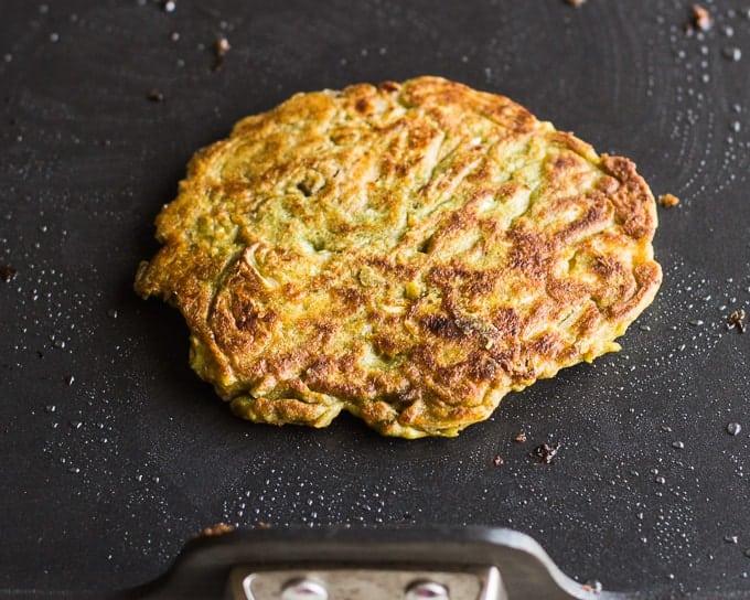 Cheese Stuffed Kimchi Pancakes