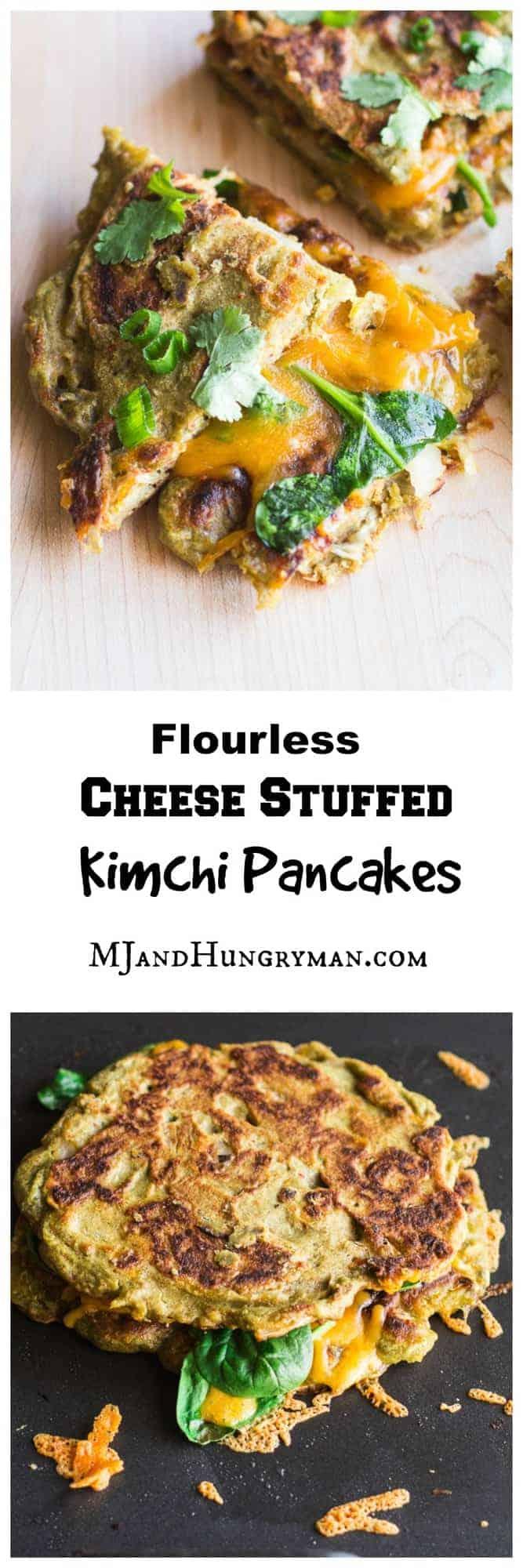 Cheese Stuffed Kimchi Pancakes Pinterest