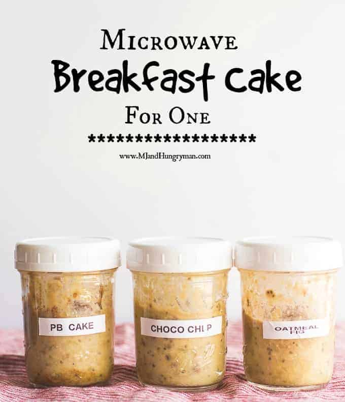 Microwave Breakfast Cake for One