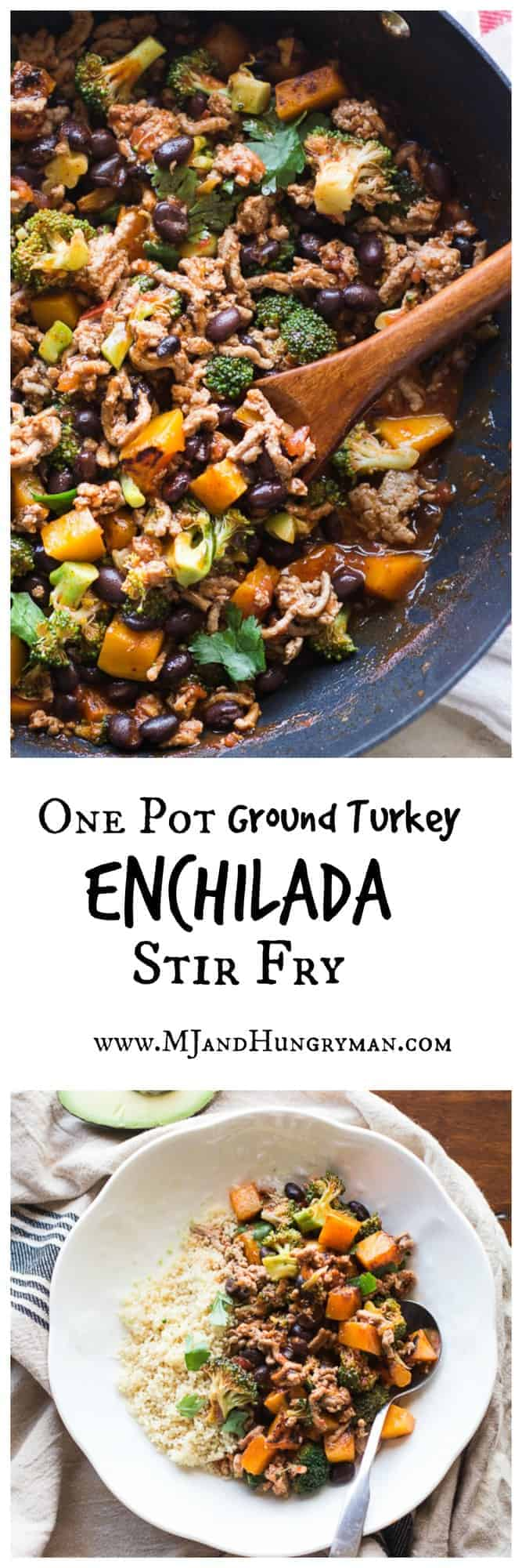 turkey enchilada stir fry