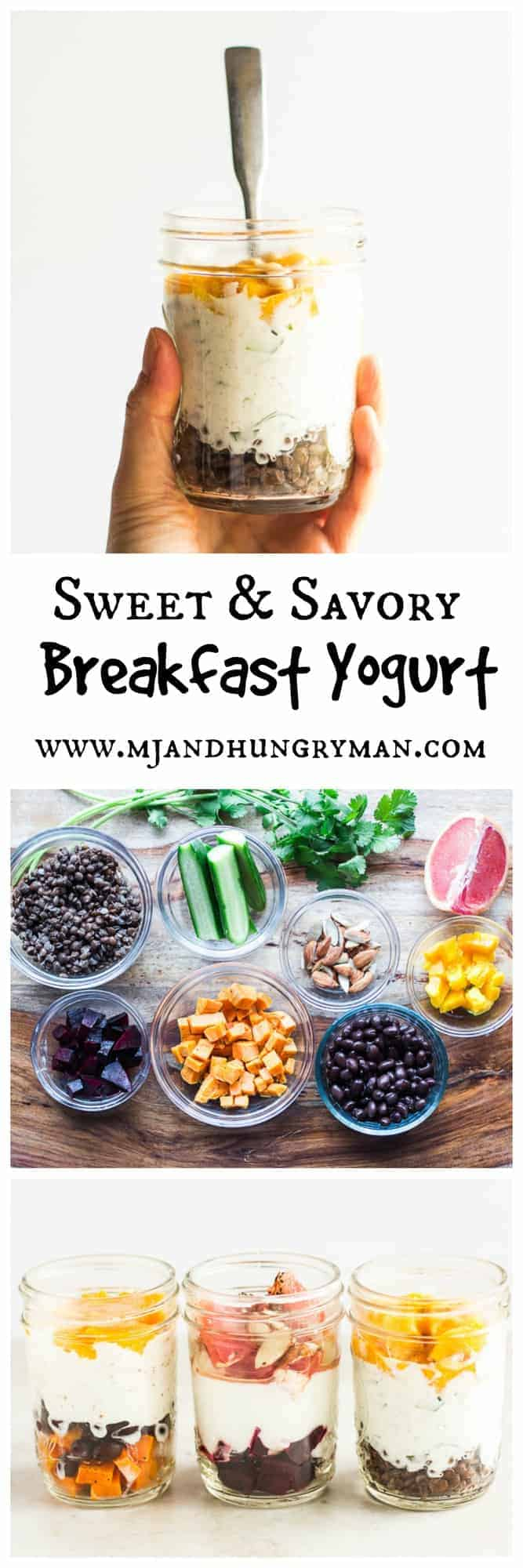 sweet and savory breakfast yogurt