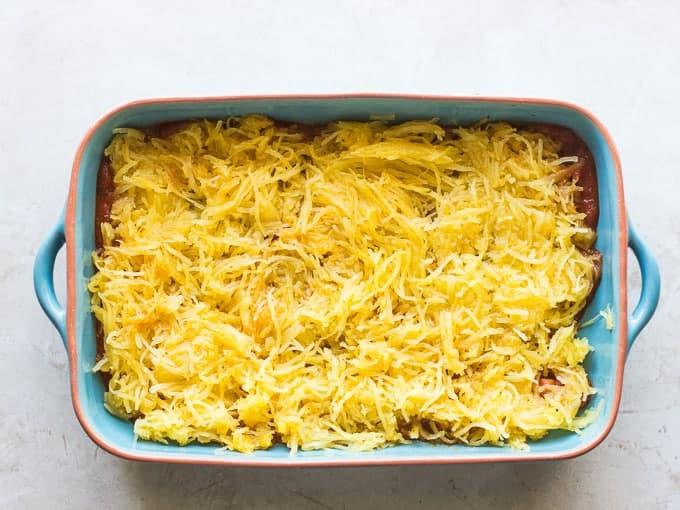 Spaghetti Squash Chicken Lasagna