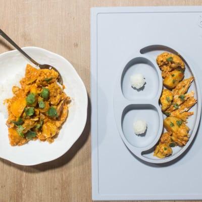 BLW slow cooker chicken cauliflower curry
