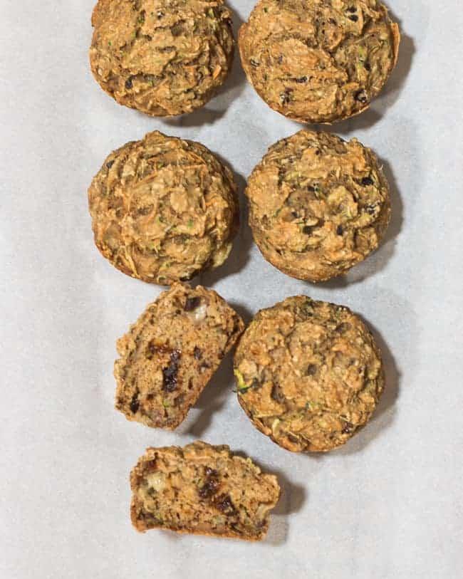 Zucchini Sweet Potato Muffins