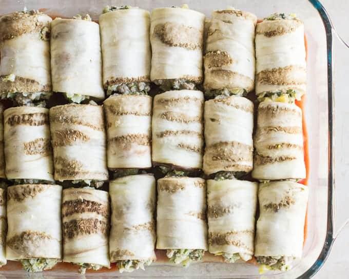 eggplant lasagna rollups - baby led weaning