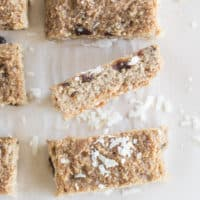 Baked Almond and Coconut Oat Bars