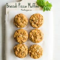 Broccoli Pizza Muffins