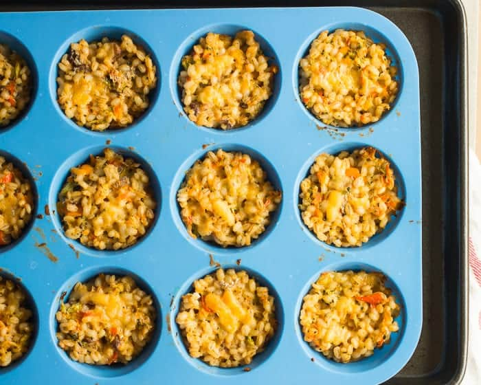 Broccoli Barley Casserole Cups - baby led weaning