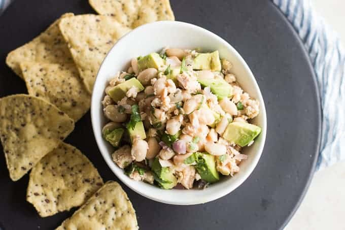 Easy Salmon Bean Salad-mjandhungryman