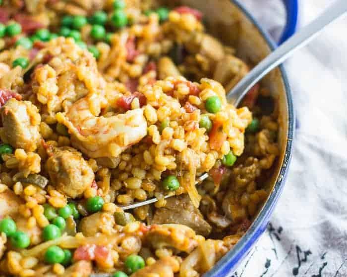 Chicken and Shrimp Barley Paella-mjandhungryman