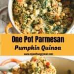 one pot parmesan pumpkin quinoa - mjandhungryman