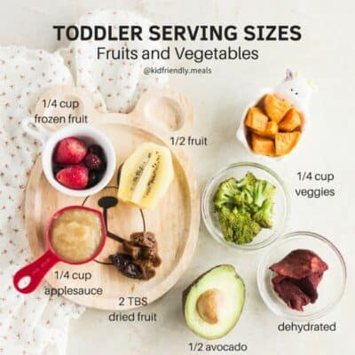 Recommended toddler serving sizes - mjandhungryman