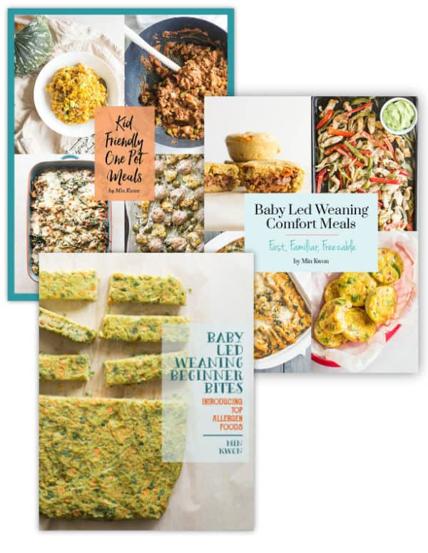 3 cover pages for MJ and Hungryman's baby led weaning ecookbooks