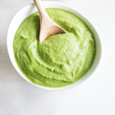 nut free broccoli white bean pesto