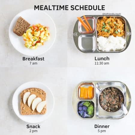 feeding schedule for your toddler