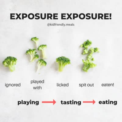 repeated exposure to foods for babies and toddlers