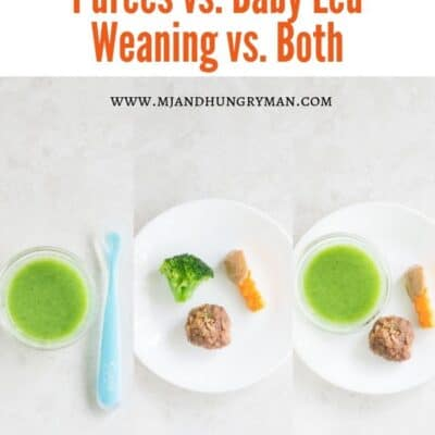 starting solids - purees or baby led weaning - mjandhungryman.com