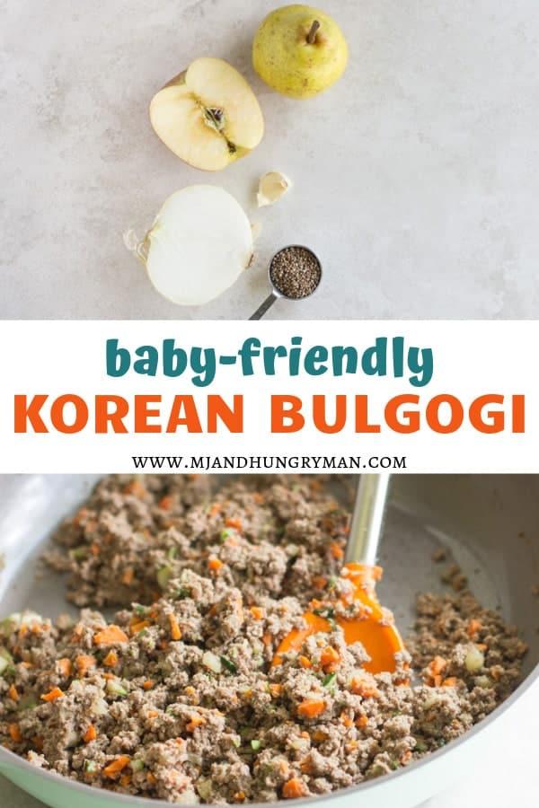 baby-friendly Korean bulgogi