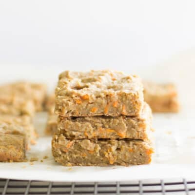 egg free carrot lentil bars