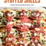 Kid friendly beef and vegetable stuffed shells