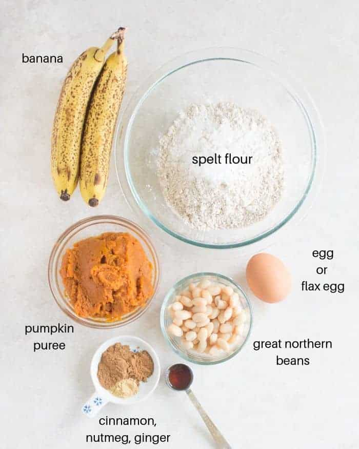 all the ingredients laid down on a white background